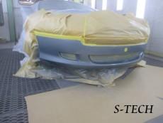 アストンマーチン,DB9,フロントバンパー,キズ,修理,塗装,修理,エステック