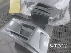 ニッサン,GTR,R35,右フロントバンパー,エアダクト,カスタム,塗装,エステック