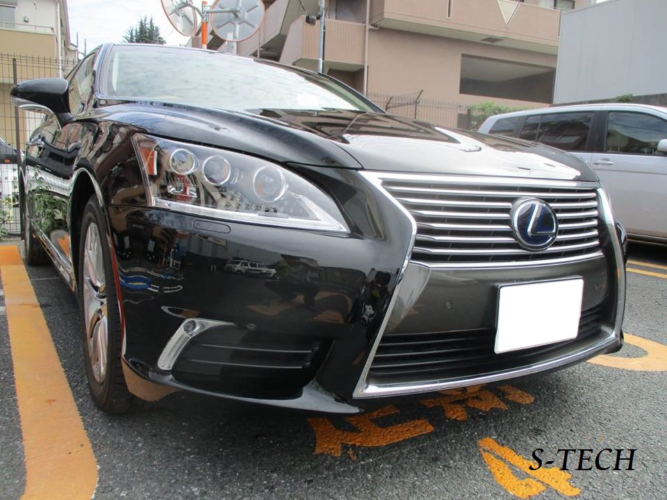 【品川区】レクサス LS600h フロントバンパー キズ 塗装剥がれ 修理塗装
