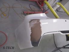 BMW,335i,E92,リアバンパー,キズ,割れ,修正,塗装,エステック