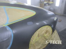 ポルシェ,911,カレラ,991,左クオータパネル,リアバンパー,キズ,凹み,板金,塗装,修理,エステック