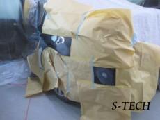 シトロエン,C5,左リアドア,左クオータパネル,キズ,凹み,板金,塗装,修理,エステック