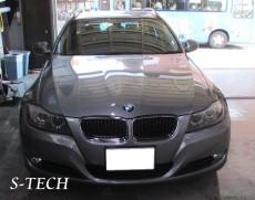 BMW,320i,E91,バックドア,凹み,板金,塗装,修理,エステック