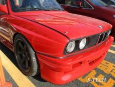 BMW,M3,E30,フロントバンパー,破損,穴,割れ,キズ,FRP,修理,塗装,エステック