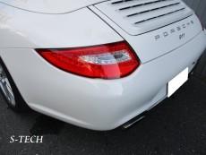 ポルシェ,911,997,リアバンパー,キズ,凹み,修理,塗装,エステック