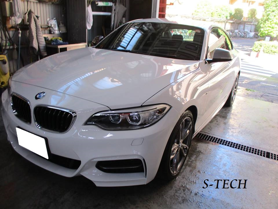 【品川区】BMW 235i F22 左クオータパネル キズへこみ 板金塗装