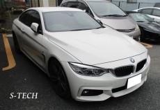 BMW,4シリーズ,F32,右フロントフェンダー,キズ,凹み,板金,塗装,修理,エステック