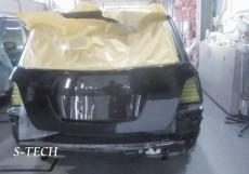 メルセデスベンツ,GLK350,X204,リアバンパー,バックドア,右クオータパネル,キズ,凹み,板金,塗装,修理,エステック