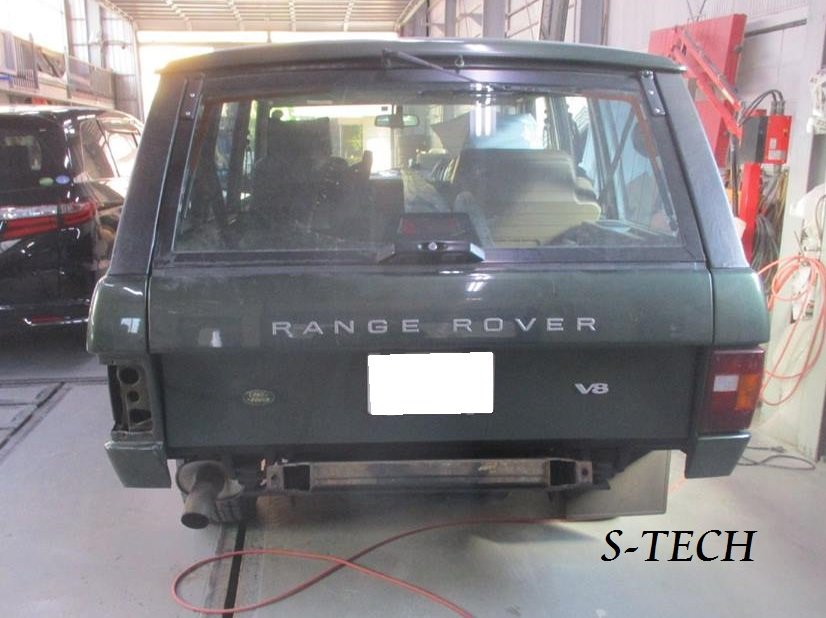 【調布市】ランドローバー レンジローバー クラッシック 左クオータパネル 傷凹み 板金塗装修理