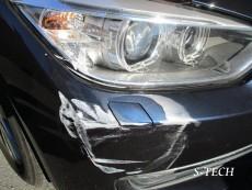 BMW,320d,F30,フロントバンパー,ヘッドライト,キズ,変形,パーツ,交換,塗装,修理,エステック