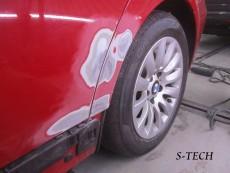 BMW,320i,E90,左サイドシル,左リアドア,左クオータパネル,キズ,ヘコミ,板金,塗装,修理,エステック