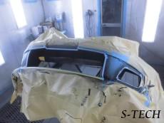 ニッサン,フェアレディZ,Z33,フロントバンパー,塗り分け,塗装,カスタム,エステック