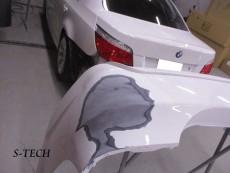 BMW,5シリーズ,E60,リアバンパー,修理,塗装,エステック