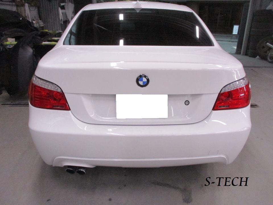 【品川区】BMW 5シリーズ E60 リアバンパー キズへこみ 修理塗装