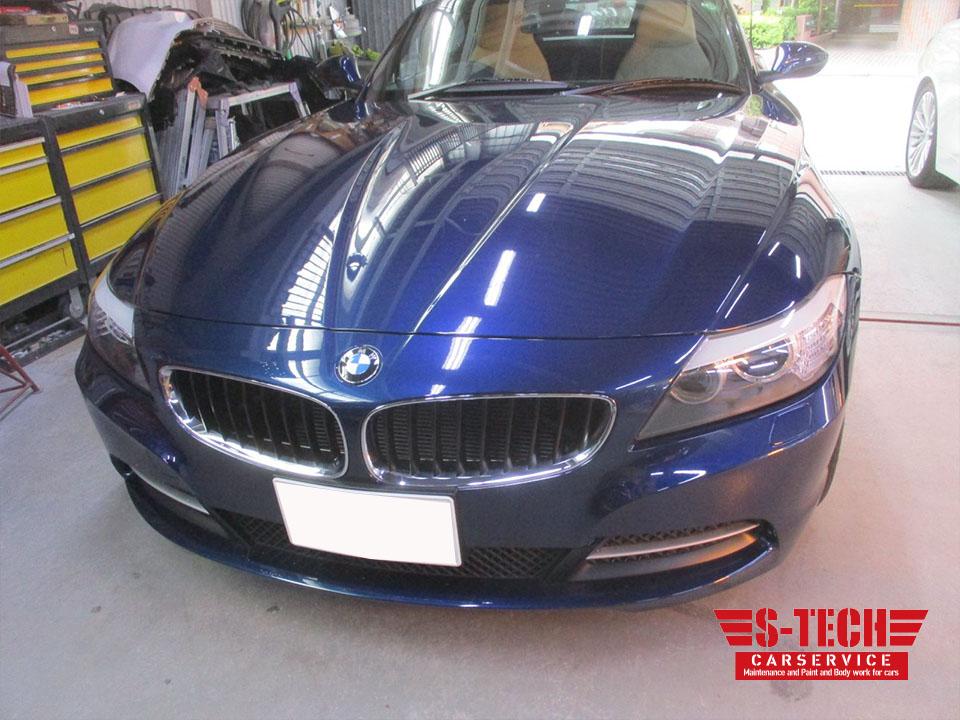 【品川区】BMW Z4 フロントバンパー 傷 塗装割れ 補修 修理塗装