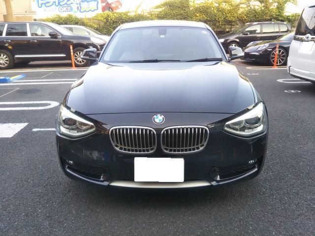 BMW・1シリーズ・F20のフロントフェンダーを修理しました。